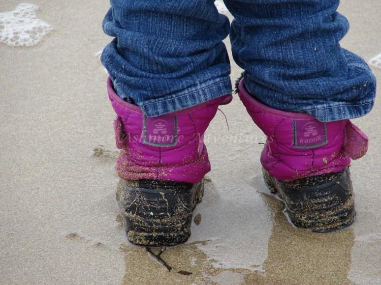 3/12/13 Wet, sandy boots.