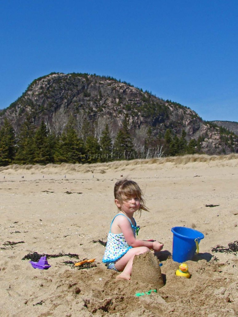 3/22/12 - Digging in the sand at Sand Beach.