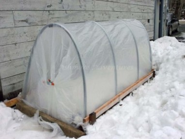 2/16/13 Hoop house: Melt snow, melt!