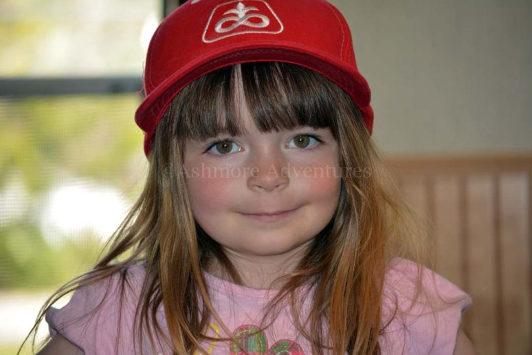 5/10/13 Amelia with her baseball cap.