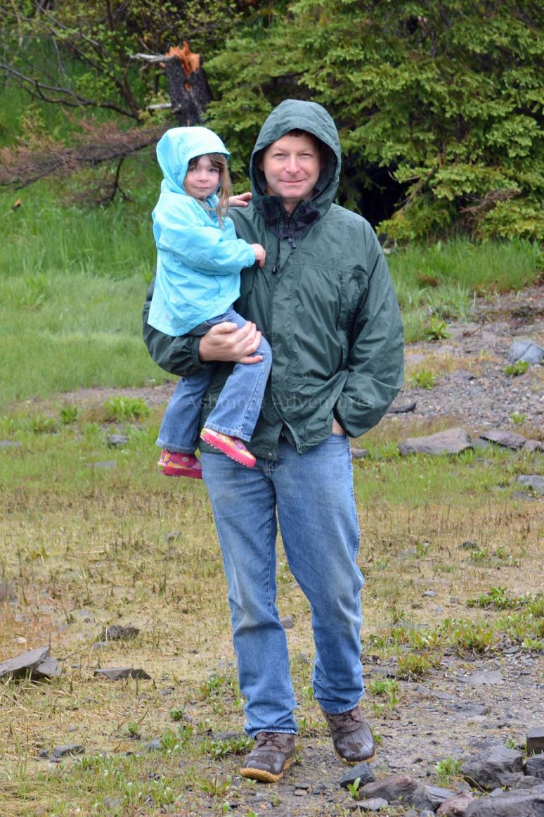 5/26/13 Artie and Amelia in the rain.