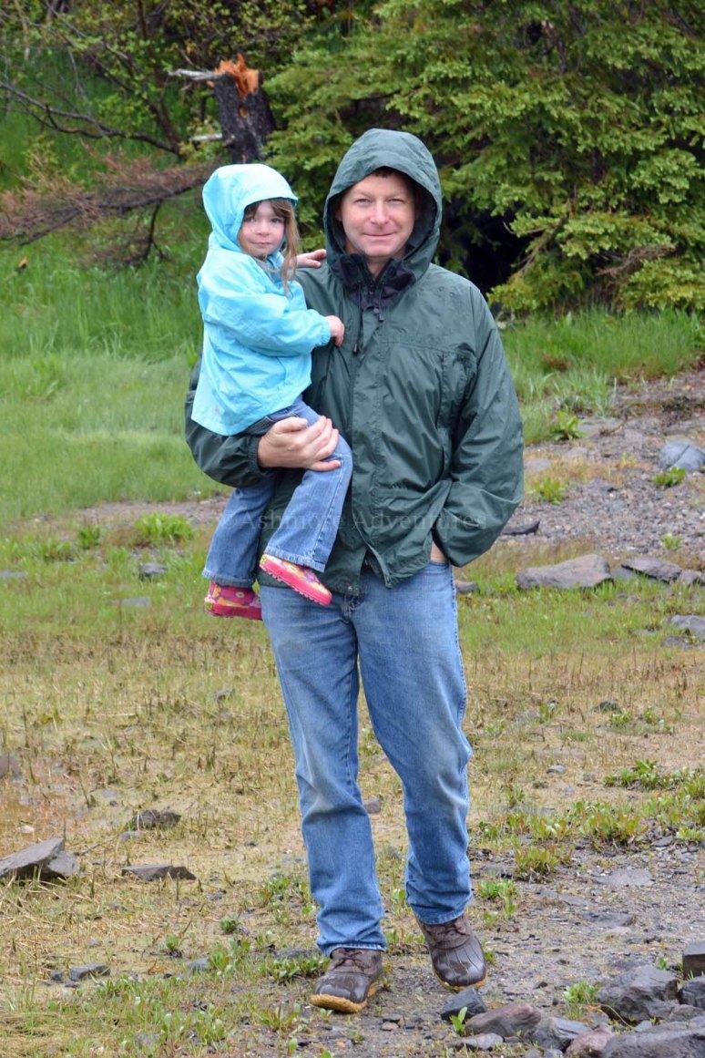 5/26/13 Artie and Amelia in the rain.
