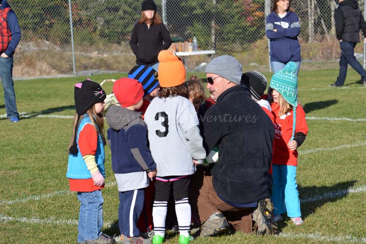 10/26/13 Getting ready for their last game.