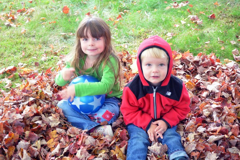 10/5/13 Playing in the leaves.
