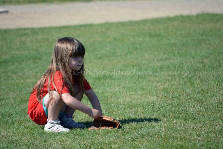 7/12/14 Trying to pay attention during T-ball.