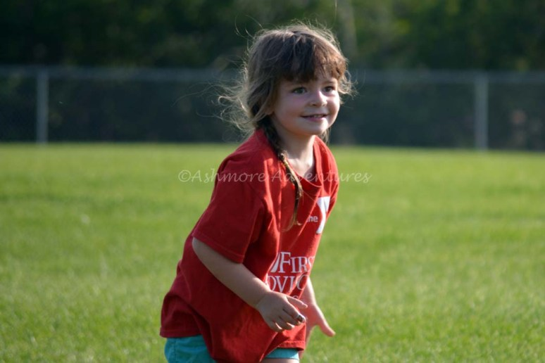8/5/14 Having fun during summer soccer.