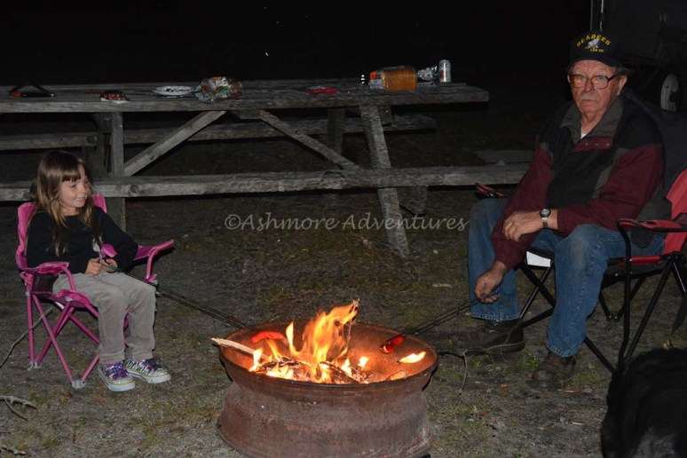 9/12/14 Camping with grandpa, Northern Maine.